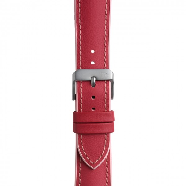 """Leather Rubber Strap """"Pink"""""""