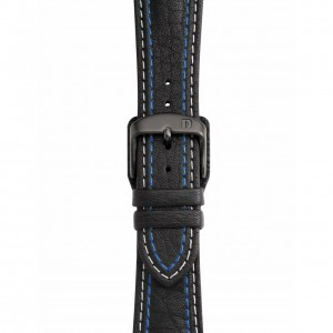 Black Leather Strap with Double Stitching – Pin Buckle