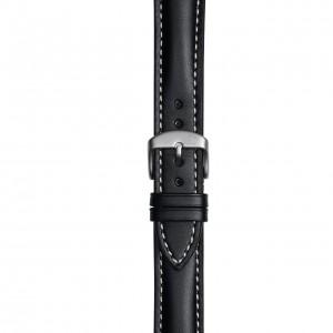 Schwarzes Lederband mit einfacher Naht